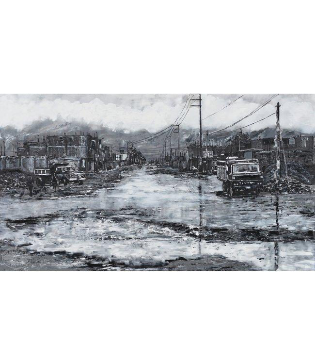 """Corrie 160x90 cm schilderij""""Zuid Amerikaaans 4"""""""
