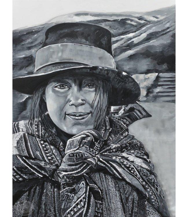 """Corrie 90x120 cm schilderij """"Zuid Amerikaans 8"""""""
