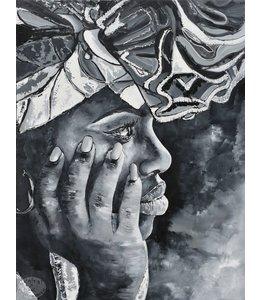 """Corrie 90x120 cm schilderij """"Zuid Amerikaans 9"""""""