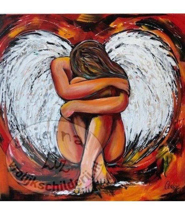 """Corrie 120x120 cm """"Healing"""""""