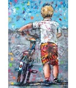 Corrie 70x100 cm jongen met fiets