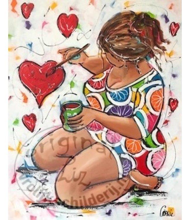 """Corrie 80x100""""love"""""""