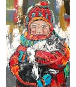 """Corrie 60x80 cm schilderij """"Klein Meisje"""""""