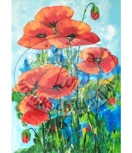 """Corrie 60x80 cm schilderij """"Klaprozen"""""""