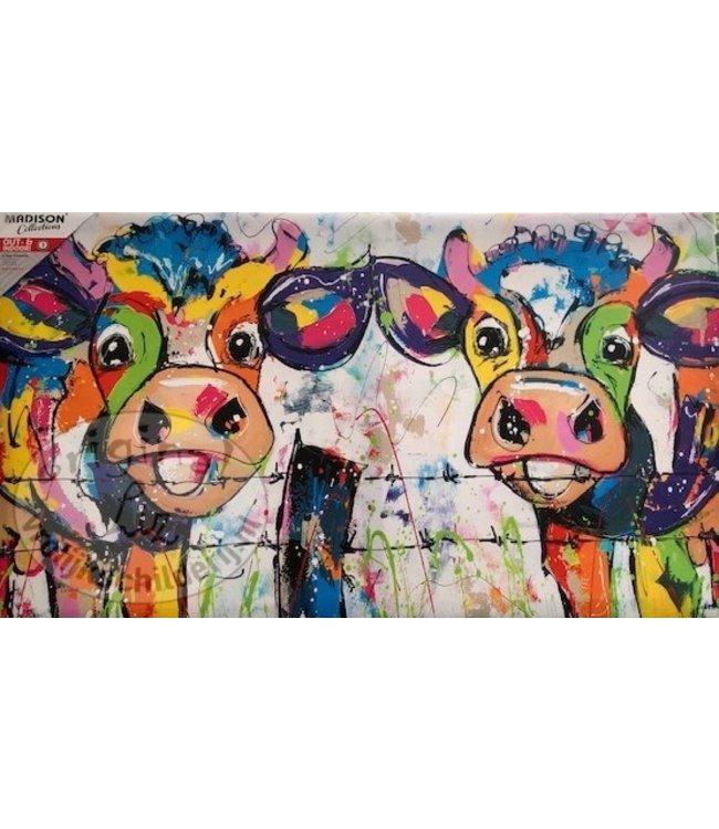 Vrolijk Schilderij Buitenschilderij koeien