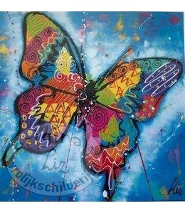 """Ansichtkaart """"Vlinder"""" 15 x 15 cm"""