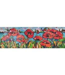 Corrie 120 x 40 cm klaprozen veld