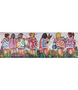 Corrie 120 x 40 Vrolijke Dames