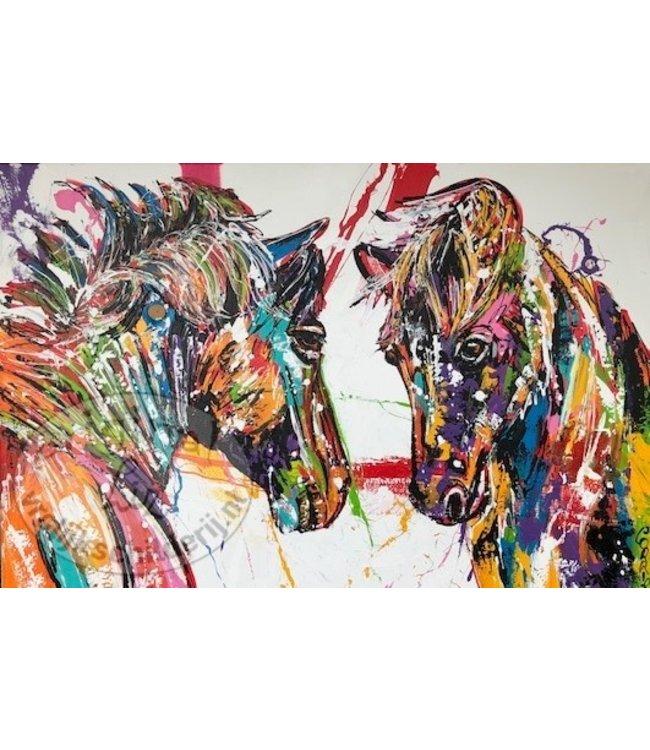 Corrie 120 x 80''Twee Paarden''
