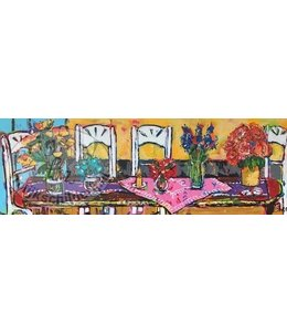 Corrie 120 x 40 ''Gezelligheid op Tafel''