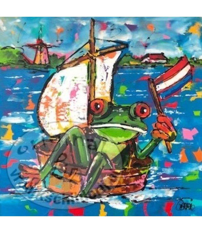 Corrie 60 x 60 ''Kikker op Drift''