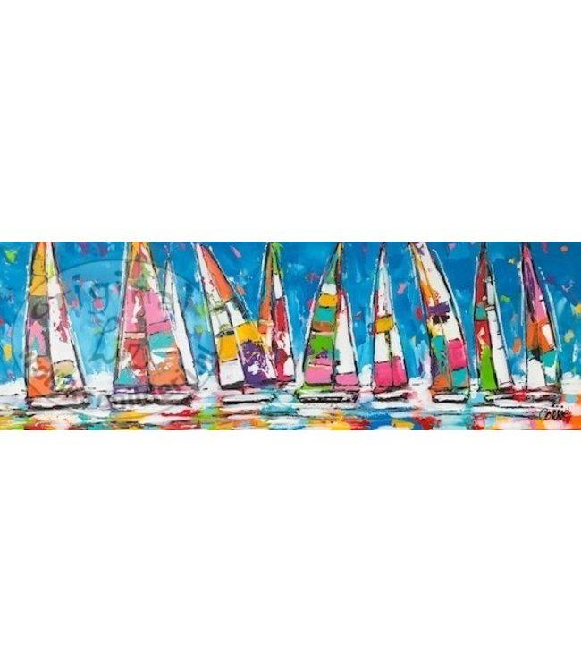 Corrie 40 x 120 ''Zeilbootjes''