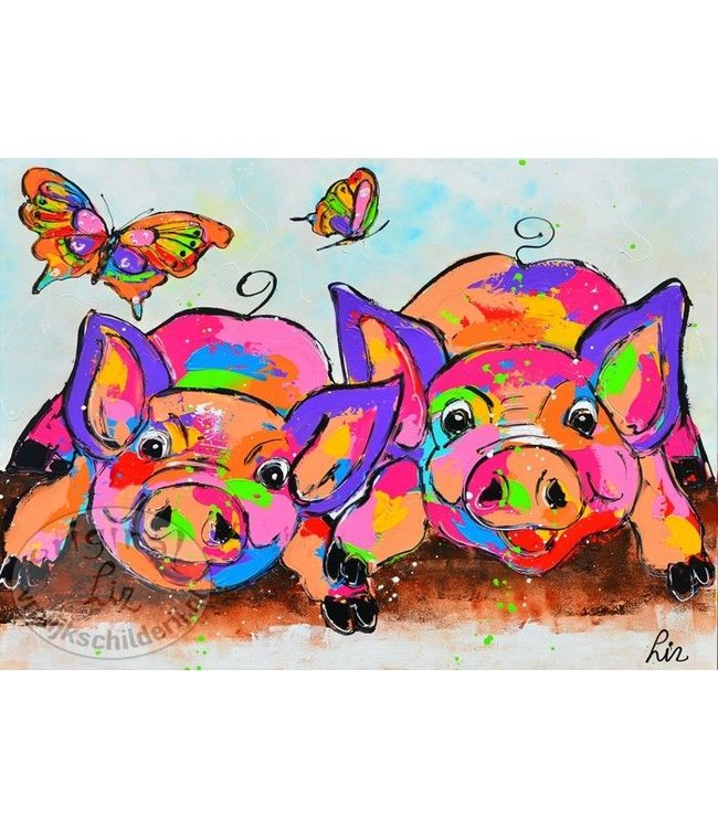 Poster varkens 70x50