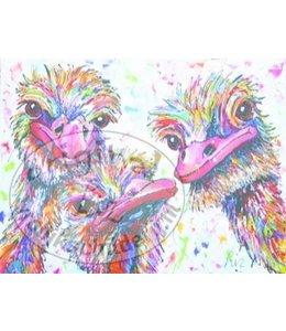 Corrie 120 x 90 ''struisvogel liefde''   Verkocht