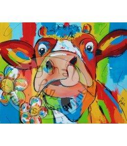 Corrie 100 x 80 ''Lekkere Bloem''   Verkocht