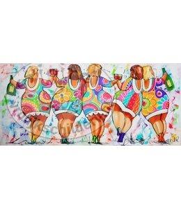 Corrie 180 x 60 ''Vijf Dames Proost''   Verkocht