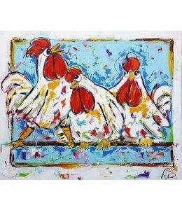 Corrie 120 x 100 ''3 Kippen''   Verkocht