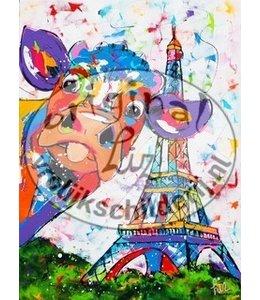 Corrie 80 x 100 '' Koe in Parijs''