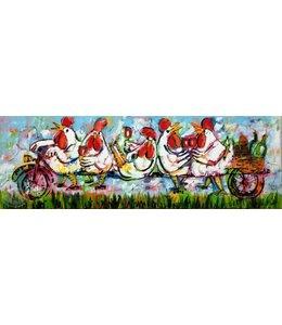 Corrie 150 x 50 ''Picknicken op de fiets''   Verkocht