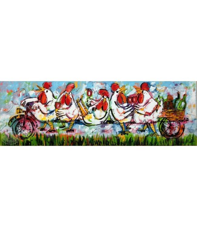 Corrie 150 x 50 ''Picknicken op de fiets''