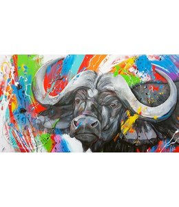 180 x 100 cm schilderij Buffel