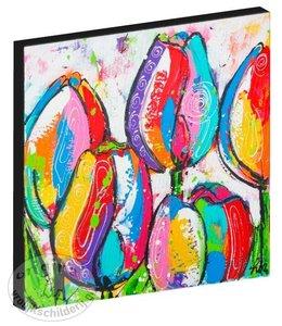 """Kunstdruk 2 cm """"Tulpen"""" 20 x 20"""