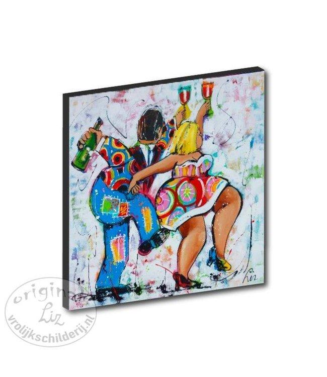 "Kunstdruk 2 cm ""Carnaval"" 20 x 20"