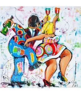 "Ansichtkaart "" Polonaise "" 15 x 15 cm"