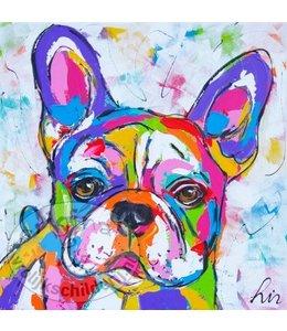 "Ansichtkaart "" Bulldog "" 15 x 15 cm"