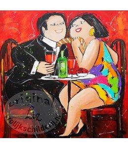 "Ansichtkaart "" Date Night "" 15 x 15 cm"