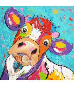 """Ansichtkaart """" Bert blanco """" 15 x 15 cm"""