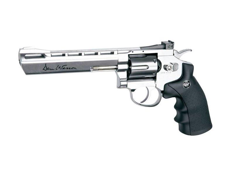 "Dan Wesson 6"" Revolver (Chrome)"