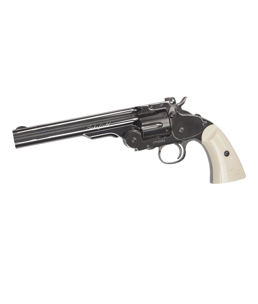 "ASG Schofield 6"" Airgun - (Plated Steel GY & Ivory Grip)"