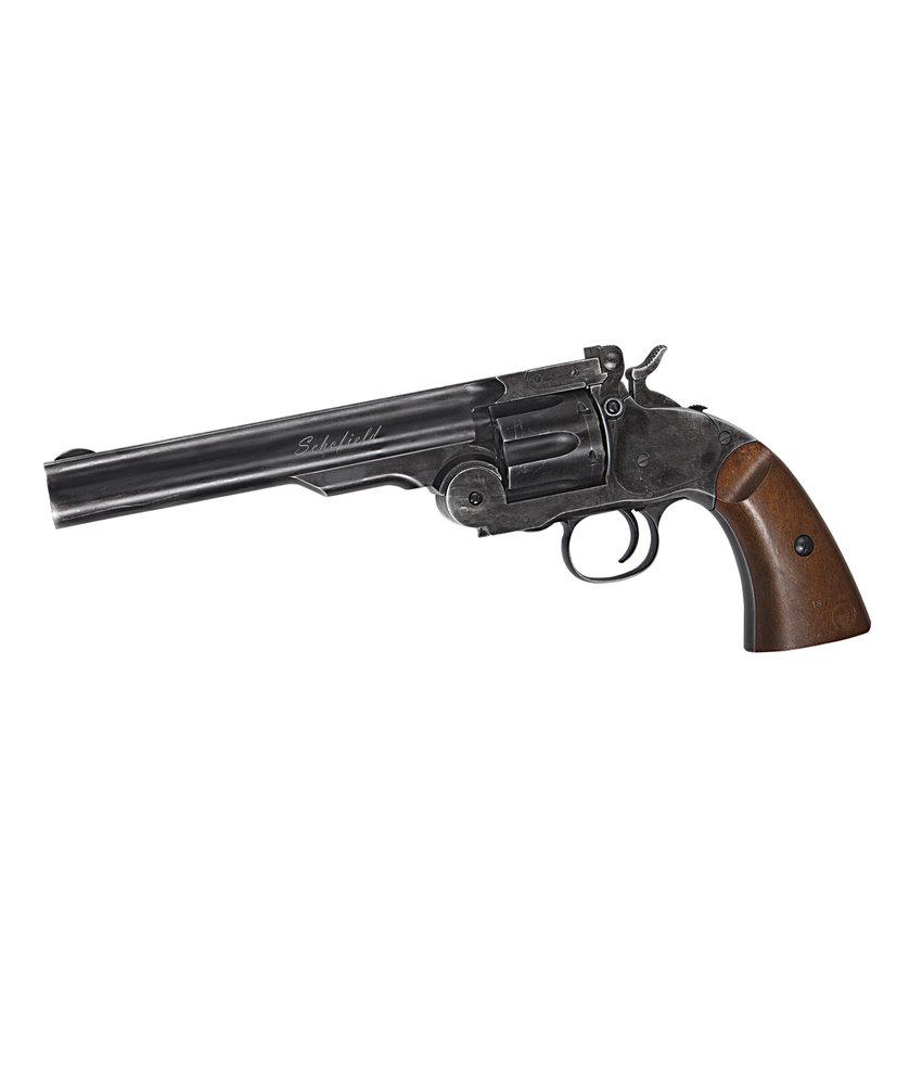 """ASG Schofield 6""""Airgun  (Aging BK & Wooden Grip)"""