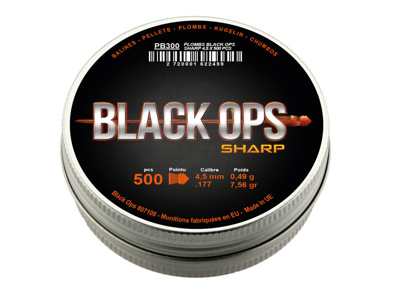 Black Ops SHARP 4.5mm 500pcs