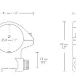 HAWKE Match Mount 2 Piece 25.4 mm  (Medium)