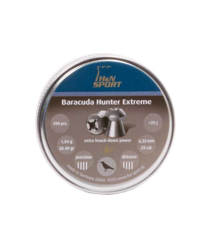 H&N Baracuda Hunter Extreme 6.35mm Pellets 200pcs