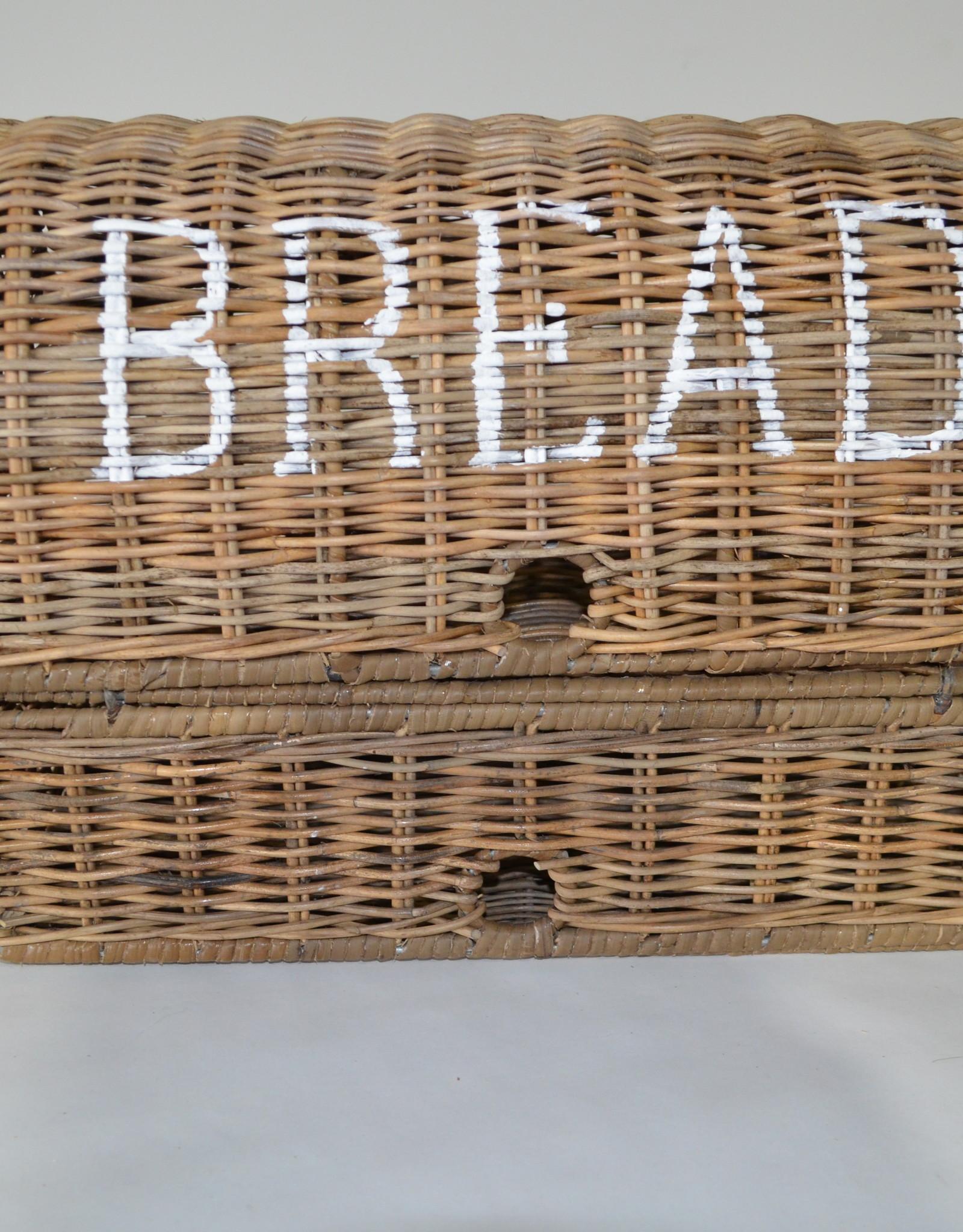 Teak-One Rieten brood mand- new