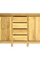 Strakke dressoir in kwaliteitsvol teakhout. 160cm