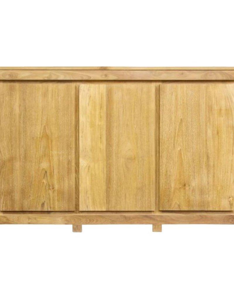 Strakke, moderne dressoir in kwaliteitsvol teakhout. 160cm