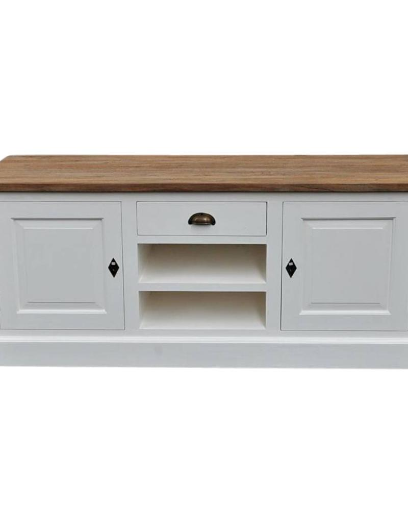 TV meubel-dressoir,  wit