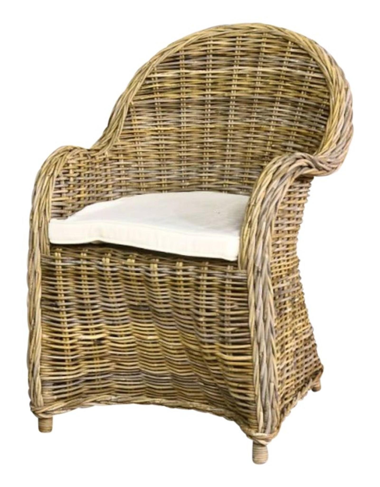 Teak-One Bonsum chaise avec coussin (mch-001.001)