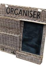 Keuken organisator met krijtbord en papierhouder