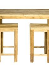 Table de bar avec des jambes de bloc