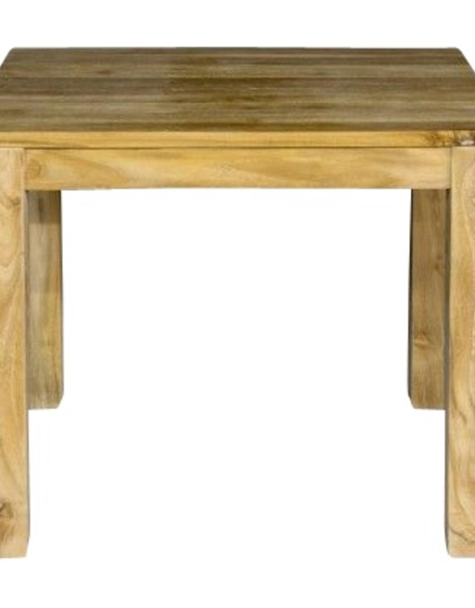 Vierkante eettafel zonder overhang