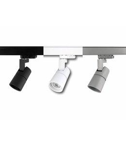 SET TUBY GU10 -  2 meter rail met middenvoeding