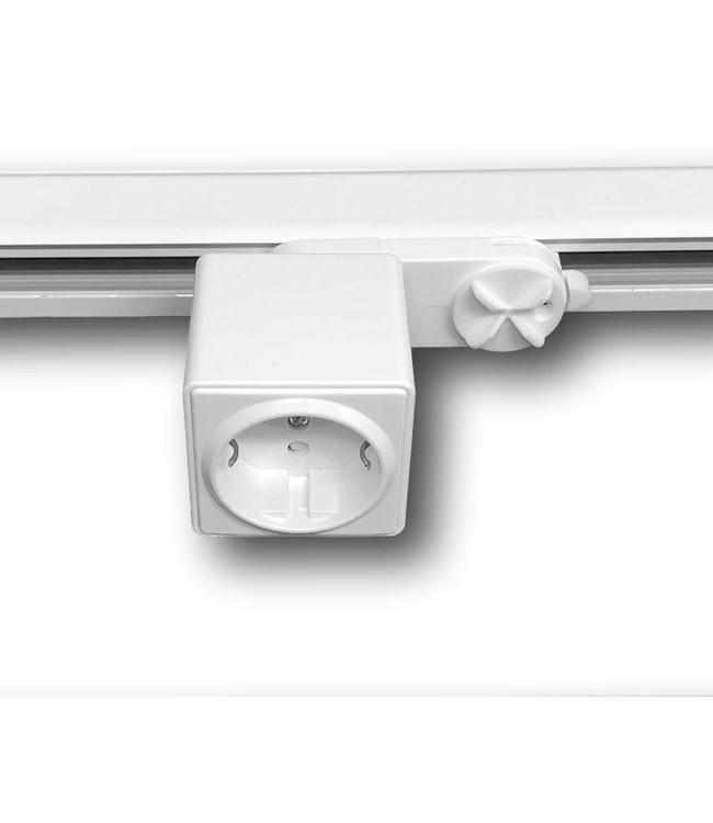3fase rail wit - stekkerdoos