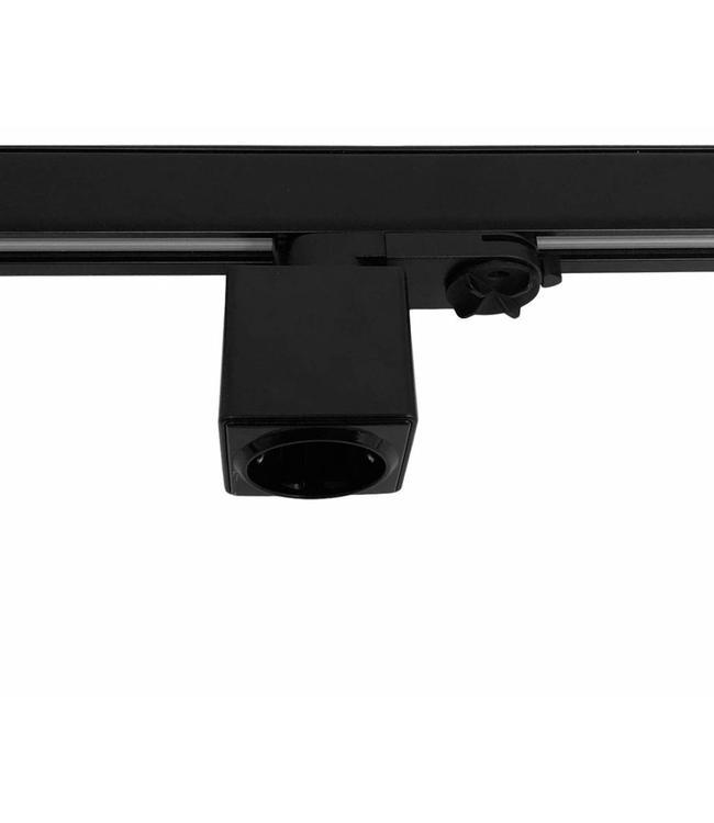 3fase rail zwart - stekkerdoos