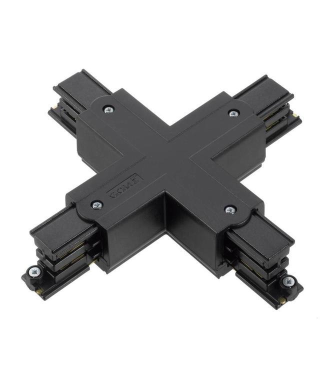 3fase rail zwart - kruisverbinding XTS38-2