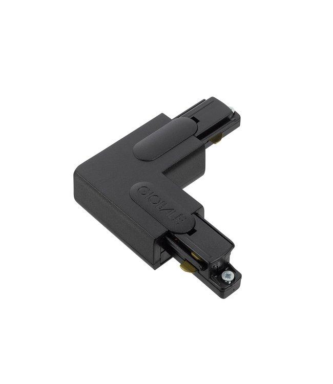 1fase rail zwart - hoekstuk GB35-2
